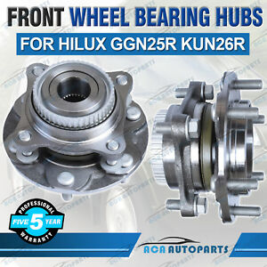 2x-Front-Wheel-Bearing-Hubs-Hub-for-Toyota-Hilux-GGN25R-KUN26R-2005-2015-Vigo-SR