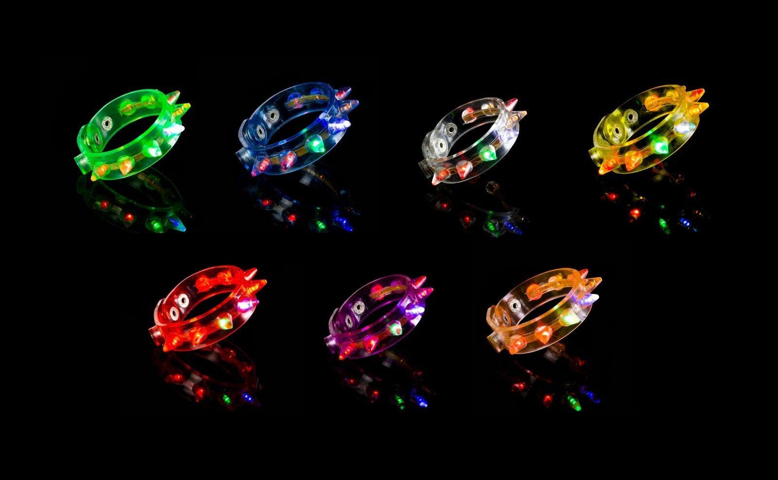 1-96 Pincho Iluminación Led Brazaletes Intermitente Brillo Cinta de Muñeca