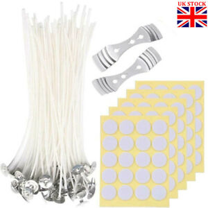 202PCS Cotton Candle Wicks with Candle Wick Stickers and Centering Device Kit