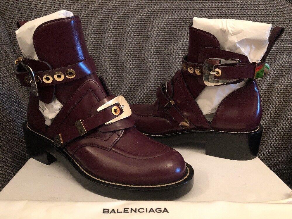 Cómodo y bien parecido Original Boots balenciaga ceinture cut out Boots Original Burgundy 39 Biker botines a6c3a2