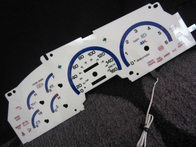 1997 1998 Ford F150 Expedition White Face Glow Gauges In KILOMETERS KPH