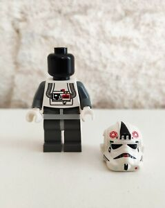 LEGO STAR WARS - AT-AT Driver Pilote Black head sw0177 (10178) - 2007