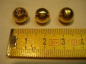 boule en laiton diamètre 10 mm (lot de 4) écrou de lustre luminaire brass balls