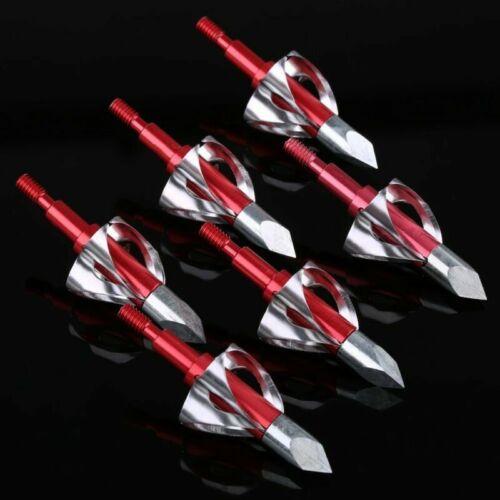 6pcs 100 Grain O Blade Broadheads Archery Arrow Heads Crossbow Tips Bolt