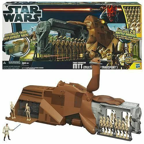 Star Wars MTT Droid Carrier Vehicle with 20 Battle Droids BRAND NEW