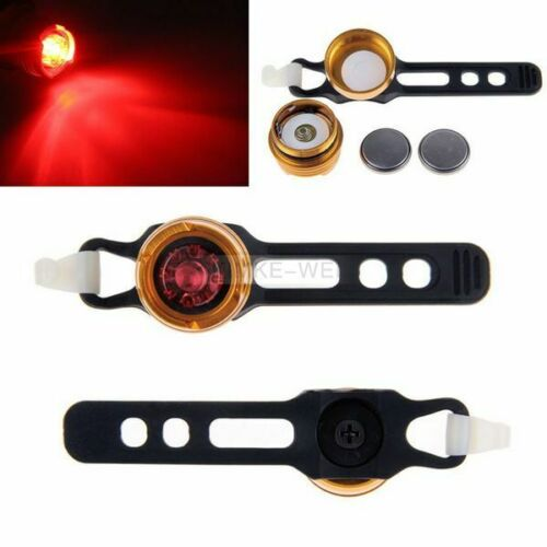 Gold Bike Bicycle Cycling Warn Red LED Rear Light Waterproof Safety Tail Lamp