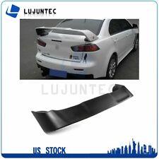 For 2008 2015 Mitsubishi Lancer Evolution Unpainted Black Wing Spoiler Abs Fits 2008 Mitsubishi Lancer