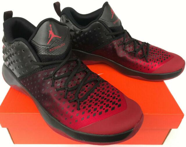 low priced 99fda fbf19 Jordan Extra Fly Mid 854551-610 NBA Gym Red GOAT Black Basketball Shoes  Men s 12