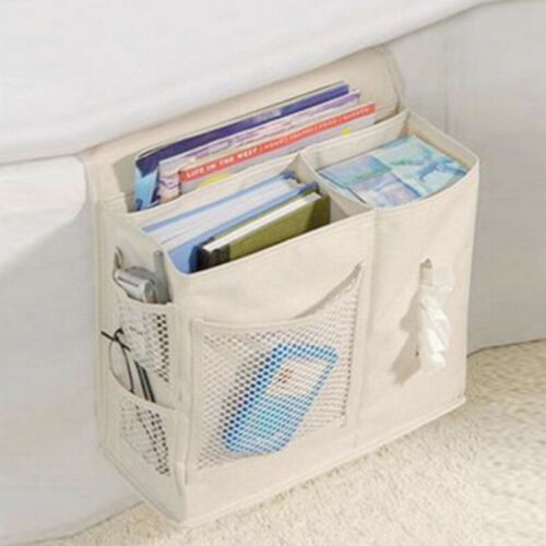 Bedside Storage Organizer Household Mesh Mattress Wall Sofa Hanging Caddy Bag UK