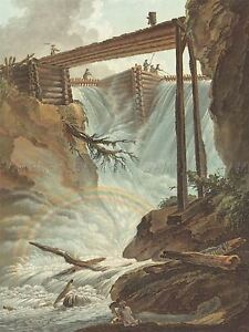 WOLF-FRENCH-TRITT-VALLEY-RAINBOW-BRIDGE-OLD-ART-PAINTING-POSTER-PRINT-BB6561A