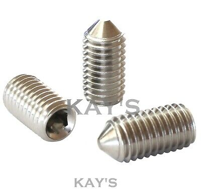 M3 x 8mm Socket Set Grub Screws Cup Point Stainless Steel 10 Pack with 1.5 mm Hex Key Wrench 8mm Length