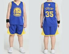 Kids Children's Youth basketball jersey Kevin Durant #35 Golden State Warriors