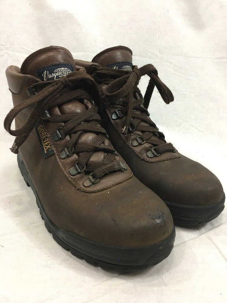 Brown Leather Hiking Boots Vasque Skywalk Mens 7.5 Trail shoes Gore-Tex