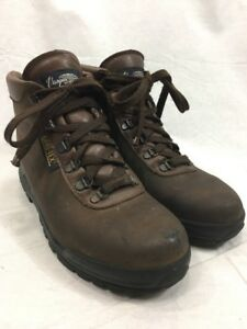 Brown-Leather-Hiking-Boots-Vasque-Skywalk-Mens-7-5-Trail-Shoes-Gore-Tex-Italy