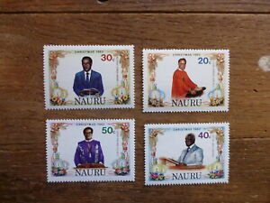 NAURU-1982-CHRISTMAS-SET-4-MINT-STAMPS