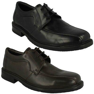 Mens Black Formal Smart Plain Lace up Shoes