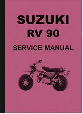 Suzuki RV 90 Reparaturanleitung Montageanleitung Service Manual RV90 Repair