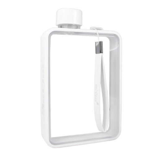 Fashion Portable Paper Memo Book Bottle Sport Travel Water Flat Kettle Cup
