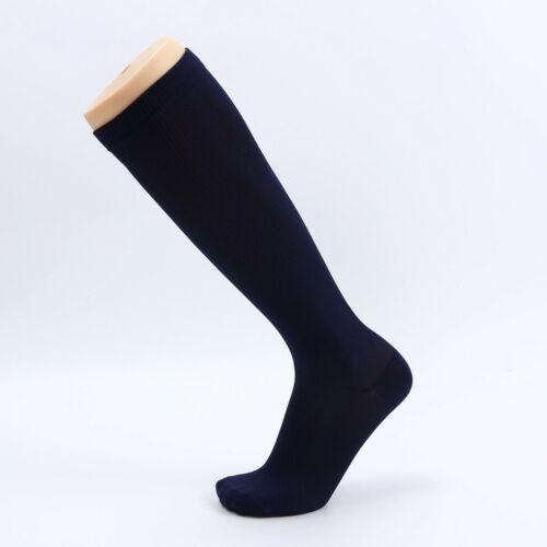 1Pair Unisex Compression Long Socks Women Men Pure Color Leg Socks