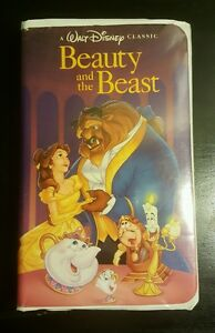 Rare-Beauty-and-the-Beast-VHS-1992-Walt-Disneys-Black-Diamond-Classic-TESTED