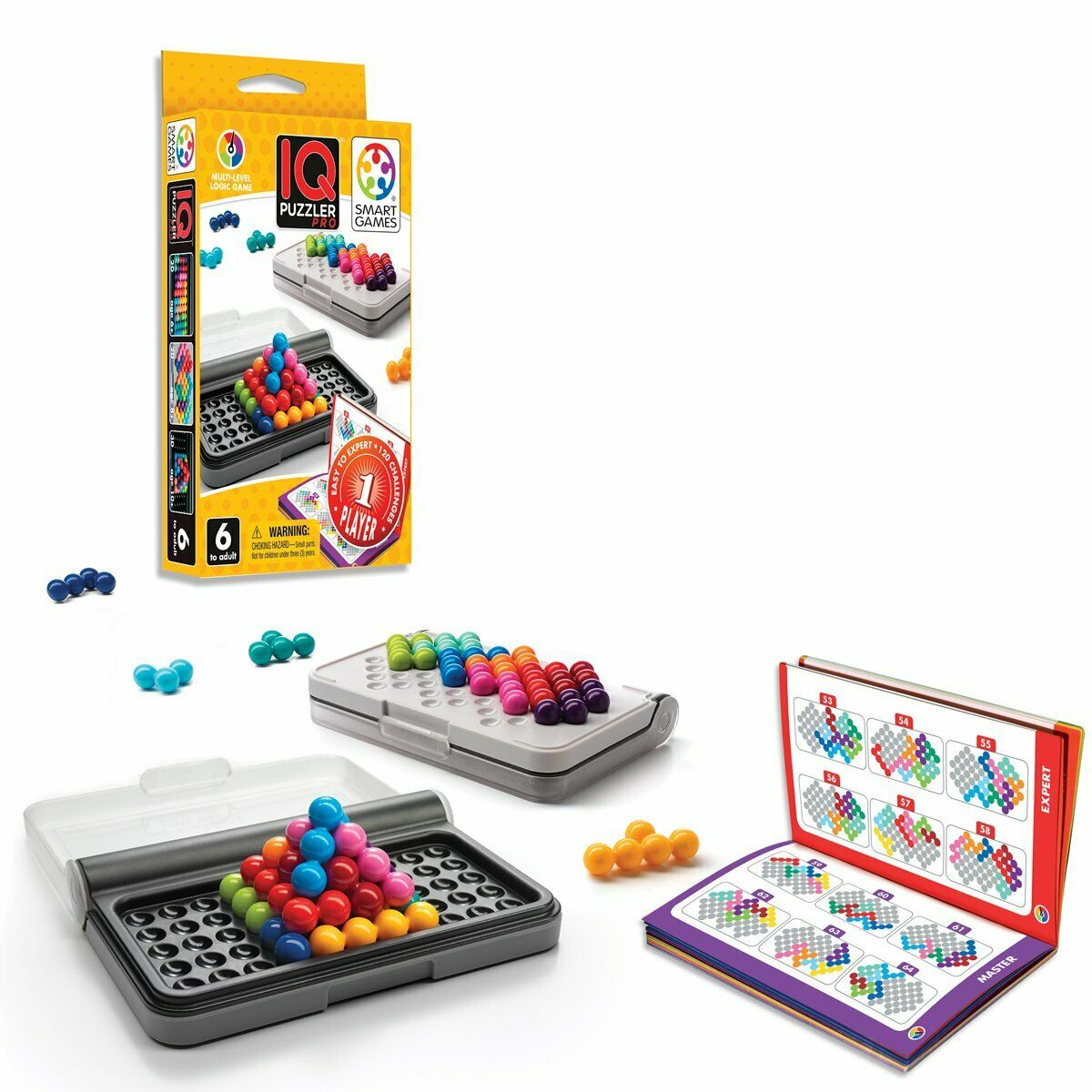 Smart Games IQ Puzzler Pro Logic Educational Travel Game Toy Kids Brain Teaser 2
