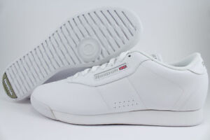 b008ef228184 Image is loading REEBOK-PRINCESS-MEDIUM-TRIPLE-WHITE-MONO-WALKING-CASUAL-