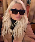 Designer Thick Square Frame Celebrity Oversized Large Women Sunglasses Shades