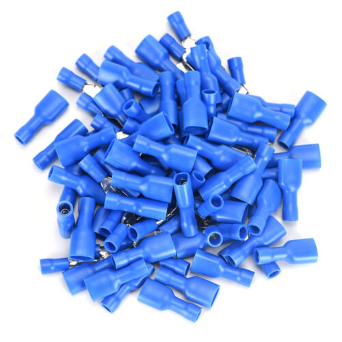 100Pcs Female/&Male Spade Insulated Connectors Crimp Electrical Wire Terminal RT