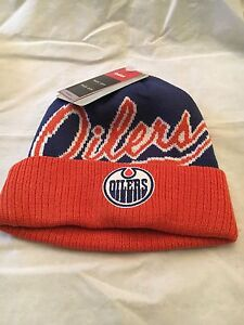 a3f20c38bbb Edmonton Oilers NEW Youth Cuffed Knit Winter Hat . NHL Hockey NWT ...