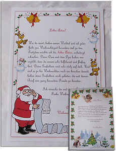 Wunschzettel Brief Vom Weihnachtsmann Wunschzettel Lernen 5