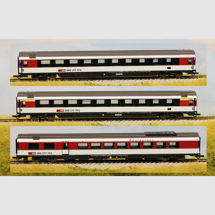 Set carrozze passeggeri in 3 pezzi delle SBB - Art. Roco 64