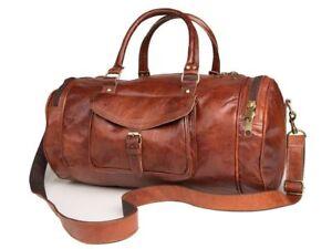 Wochenendreisetasche Vintage Bag Reisetasche Sporttasche Herren Duffle Leder Neu XZx05ww