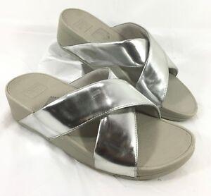d6728e2499aa Image is loading EUC-Women-039-s-FitFlop-Swoop-Slide-Sandals-