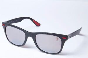 da83f1fd207 Ray-Ban Ferrari RB4195M F602 H2 Black Silv Mirr Chro Sunglasses 52mm ...