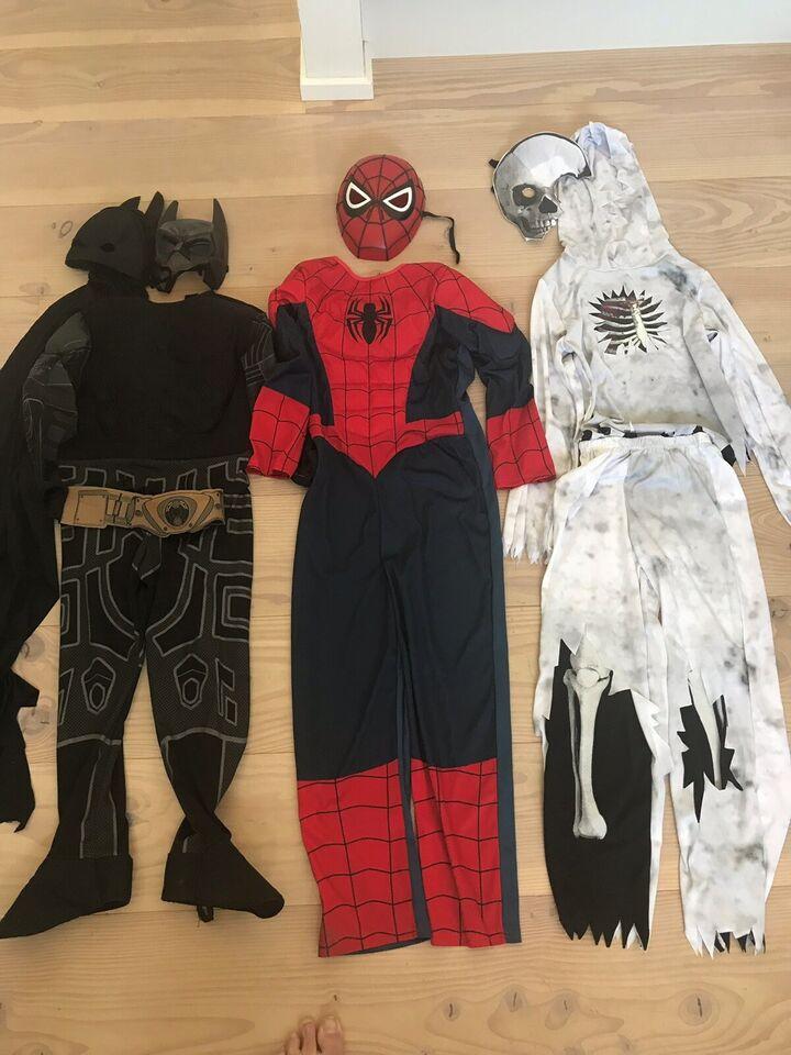 Udklædningstøj, Batman, Spiderman og Zombie kostume
