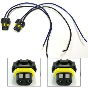 Extension Wire Pigtail Female 9006 HB4 Two Harness Fog Light Socket Plug Lamp OE