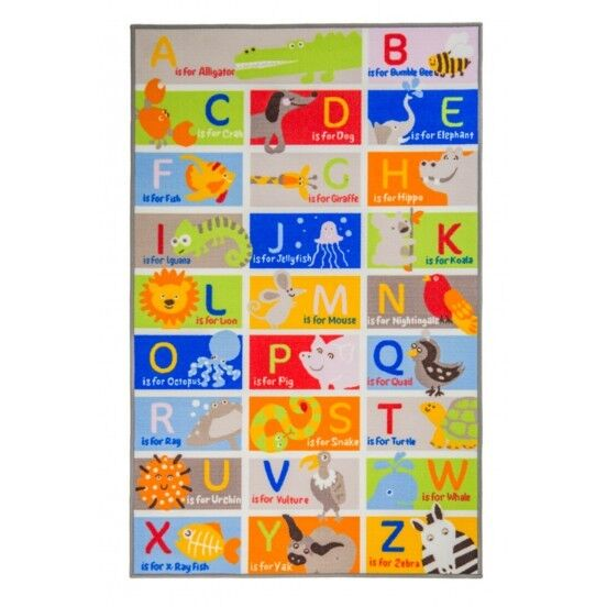 Children's Rugs Matrix Kiddy Alphabets ABC Washable Play Mat/Rug- 100x160 cms