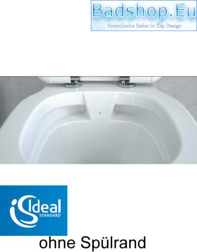 RANDLOS ohne SPÜLRAND,Tiefspüler IDEAL STANDARD Connect WC inkl.Softclose-Sitz