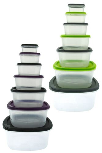 Square Food Storage Container Set of 7 Boxes