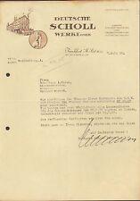 FRANKFURT/MAIN-SÜD 10, Brief 1938, Fußpflegemittel Deutsche Scholl Werke GmbH