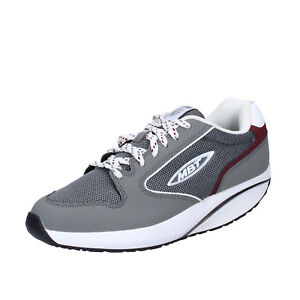 4 4 Women's 35Sneakers 5eu Leather Gray Performance Shoes Mbt OkNPX80nw