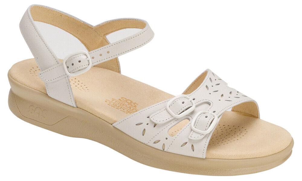 SAS Wouomo scarpe Duo Sandal bianca 10 Medium FREE SHIPPING Brand New In Box Save