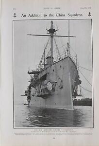 1903 PRINT CHINESE SQUADRON NEW ARMOURED CRUISER LEVIATHAN