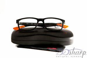 1caaa978bf Image is loading Ray-Ban-Eyeglasses-RB-7063-5417-SHINY-BLACK