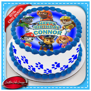 Paw Patrol Edible Cake Topper Image Icing Birthday Party