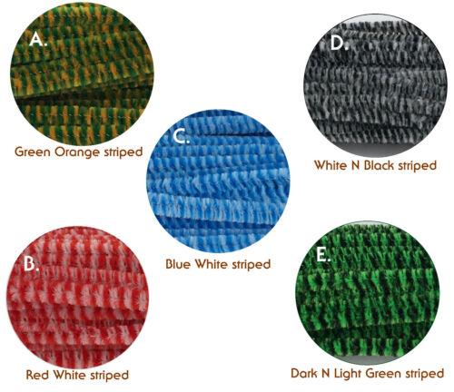 50pcs  striped Chenille Stem 30cm Craft Pipe Cleaner Craft Stem hand-woven DIY