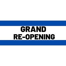 Grand Reopening Advertising Vinyl Banner Flag Sign Many Sizes Available Usa
