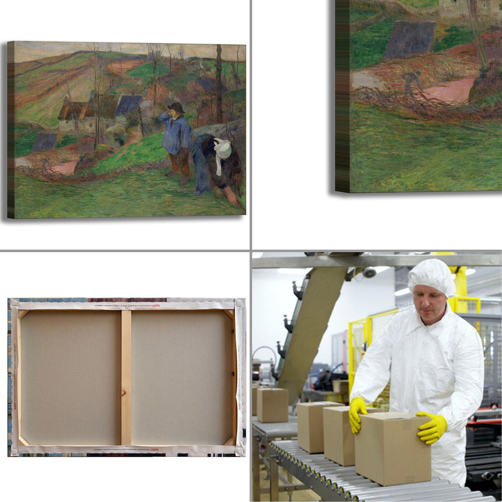 Gauguin paesaggio bretagna design quadro stampa tela dipinto telaio arroto arroto arroto casa 6ed7b5
