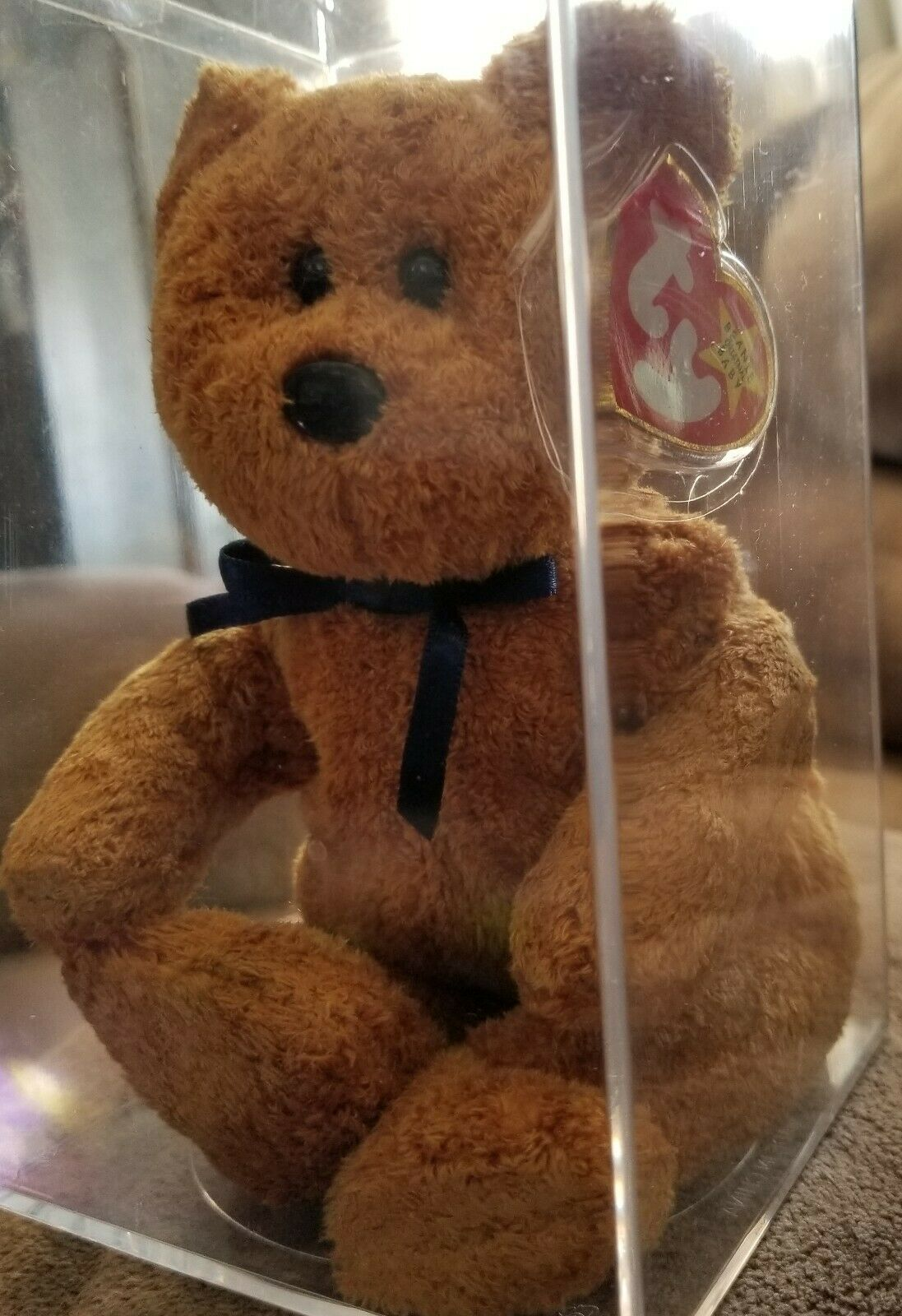 RARE  LIMITED EDITION 1998 TY  Fuzz  Original Beanie Baby Bear Kept in case