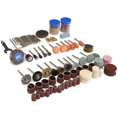 "136x Rotary Tool Set 1/8"" Shank Sanding Polish Cutting Accessory Bit"